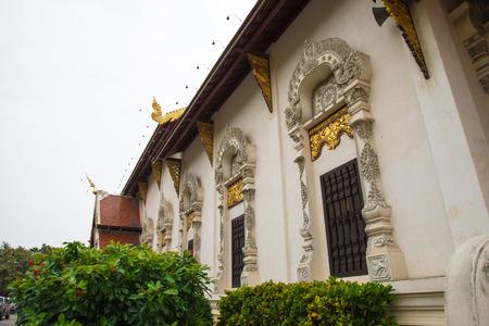 traditinal: Traditinal Thai style church windows in Chiangmai, Thailand