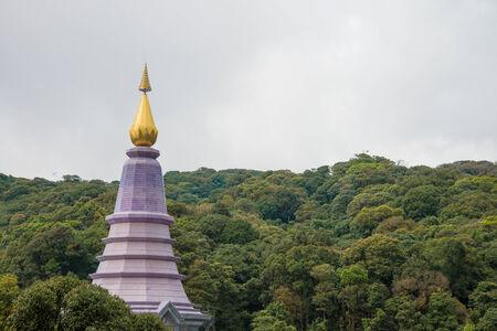Beautiful queen pagoda of Doi Inthanon Chiangmai Thailand photo