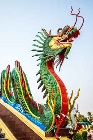 temple thailand: Dragon in chinese temple, Thailand