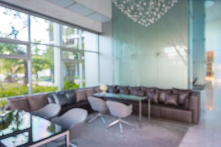 Astratto sfondo sfocato hall dell'hotel di lusso