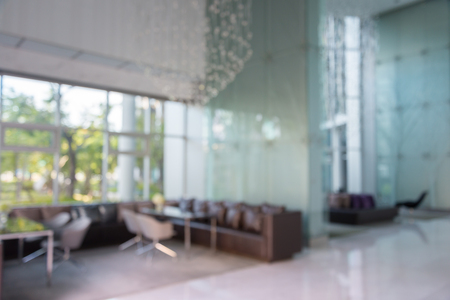 focus on background: Abstract background hotel lobby blur - out of focus