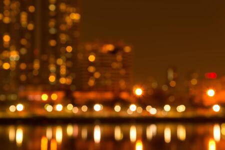 benjakitti: Abstract Benjakitti park urban night light bokeh, defocused background