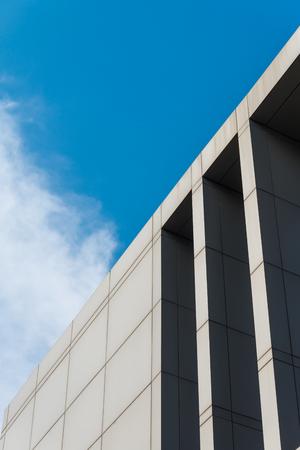 architectural details: Modern architectural details against blue sky