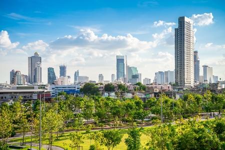 Beautiful green park in Bangkok city, Thailand