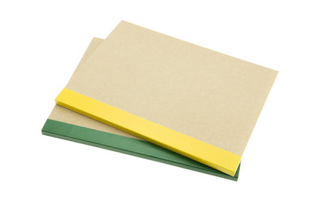 Recycle notebook on white background Standard-Bild - 103187798