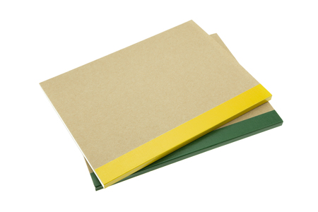 Recycle notebook on white background Standard-Bild - 103187799