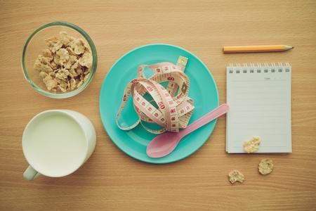 Time to diet concept ideas - Color tone effect