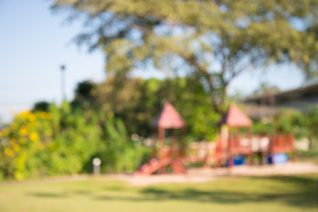 Abstract blur children playground in city park background Standard-Bild