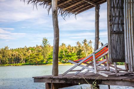 Beach chairs in resort hut - Koh Mak, Trat Thailand