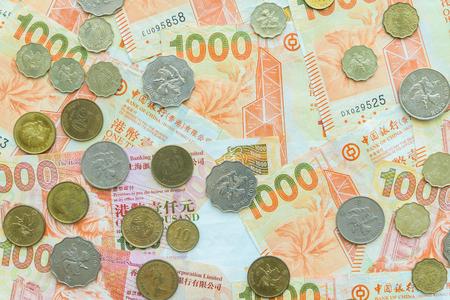 Hong Kong currency banknotes and coins