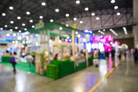 Abstract blur people in exhibition hall event background Stock Photo