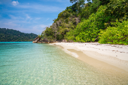 Beautiful tropical island beach south Andaman, Satun Thailand Stock Photo