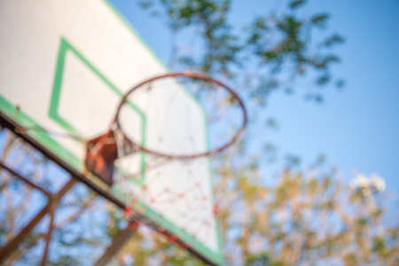 Abstract blur Basketball hoop background, business target solution concept