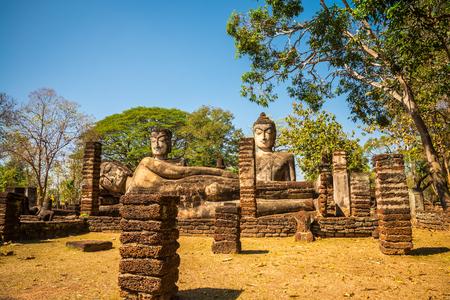 Kamphaeng Phet historical park - Three buddha statue, Thailand