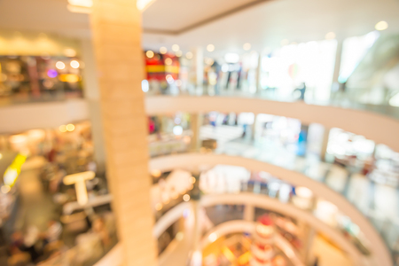 Department store shopping mall blur background with bokeh