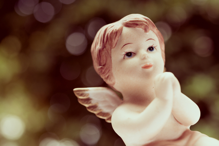 Angelic cupid statue - vintage effect style picture