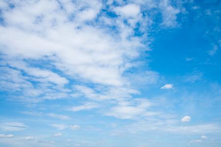 Bright blue sky with white clouds Standard-Bild - 102807734