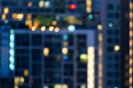 Defocused cityscape at night light background Standard-Bild - 102836729