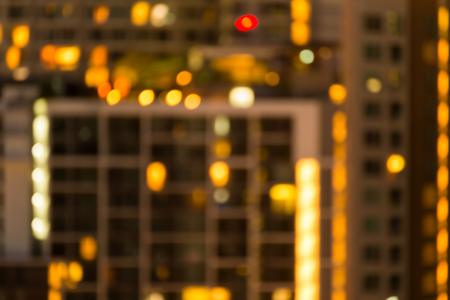 Defocused cityscape at night light golden luxury background Standard-Bild - 102836757