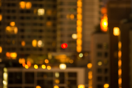 Defocused cityscape at night light golden luxury background