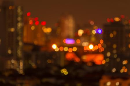 Defocused cityscape at night light golden luxury background Standard-Bild - 102836764