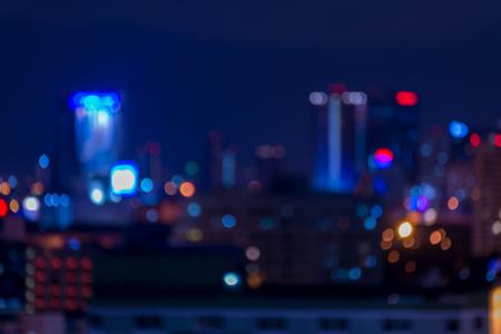 Defocused cityscape at night light background Standard-Bild - 102836773