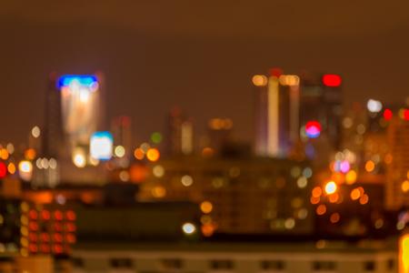 Defocused cityscape at night light golden luxury background Standard-Bild - 102836776