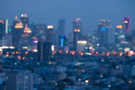 Abstract Bangkok city night light bokeh , defocused background Standard-Bild - 102837387