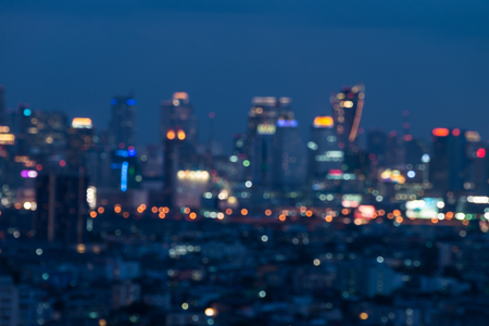 Abstract Bangkok city night light bokeh , defocused background Standard-Bild - 102837388