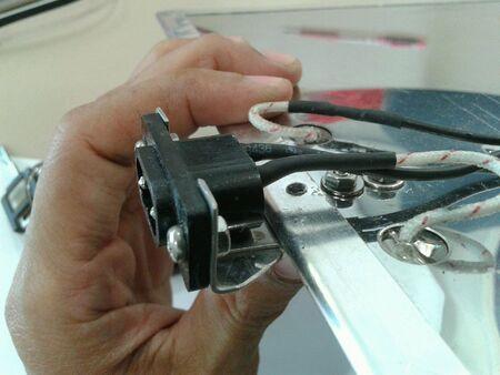 провода: Мощность conector с проволокой Фото со стока