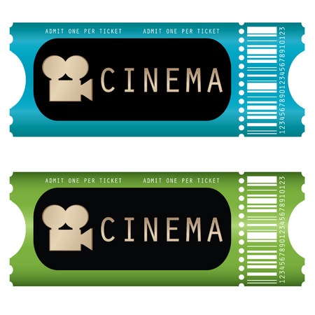 movie ticket  Stock Vector - 8409431