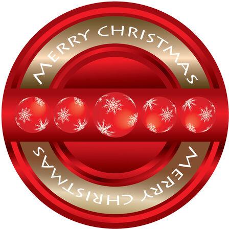 Merry Christmas - ticket  Stock Vector - 8437498
