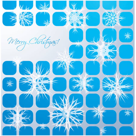 Abstract Christmas background with white snowflakes  Vector