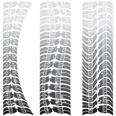 Special tire tracks  Stock Vector - 8437520