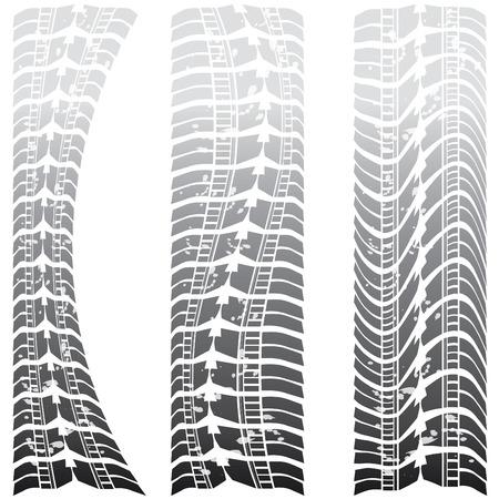 Special tire tracks Stock Vector - 8437520