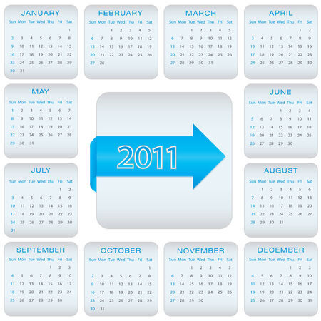 calendar for 2011 Stock Vector - 8587926