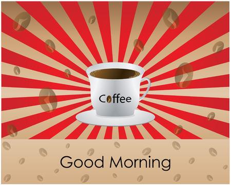 Good Morning koffie - achtergrond  Vector Illustratie