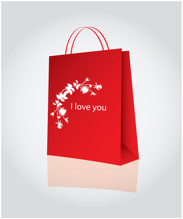 Shopping for valentine's day Stock Vector - 8634185