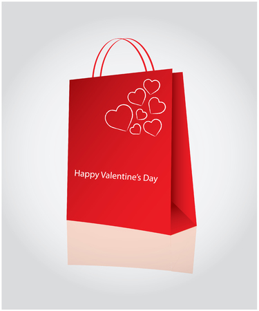 Shopping for valentine's day Stock Vector - 8634184