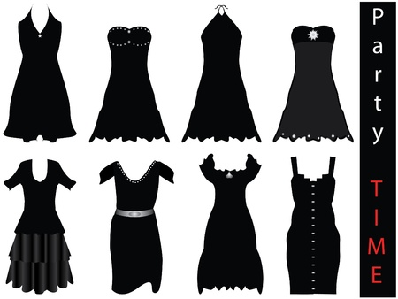 modern formal dresses - NEW FASHION  Vector
