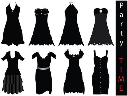 muneca vintage: vestidos formales modernas - nueva moda  Vectores