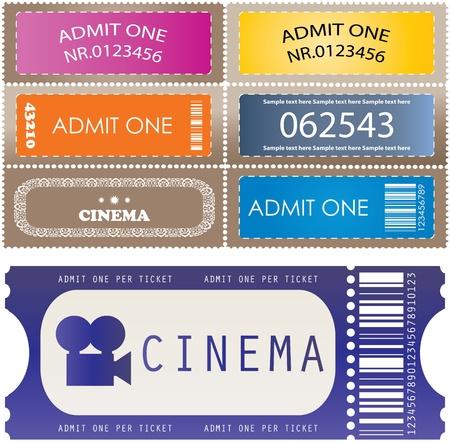 Tickets in verschiedenen Stilen