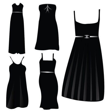 gala event: modern formal dresses Illustration