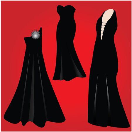 modern formal dresses - NEW FASHION  Vector