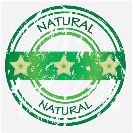 Natural food or product label - green