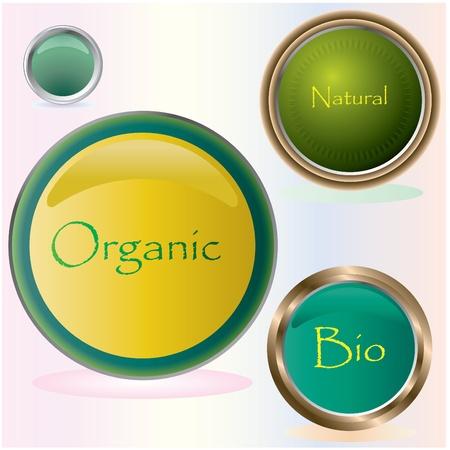 Bio buttons Stock Vector - 8760610