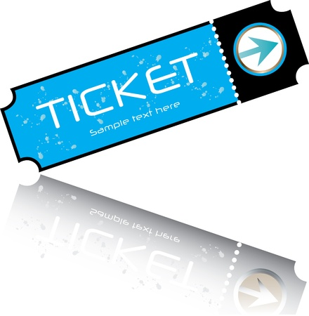 film role: Stock Illustration: blue ticket