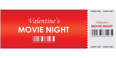 valentine's movie night Stock Vector - 8760656