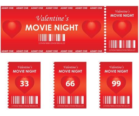 valentines movie night Vector