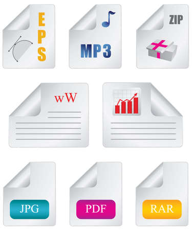 Document icon file extension Vector